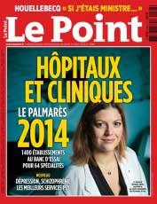 Classement du Centre Vision Laser Paris Ouest dans le Palmarès 2014 du journal Le Point