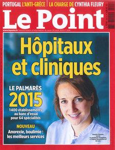 Classement du Centre Vision Laser Paris Ouest dans le Palmarès 2015 du journal Le Point